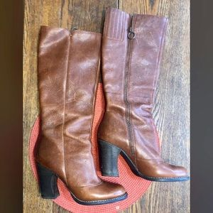 BCBG knee high leather boot with zip